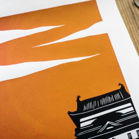 linogravure-fukuyama-japon-orange-3