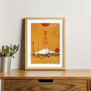 Poster japon couleur Fuji