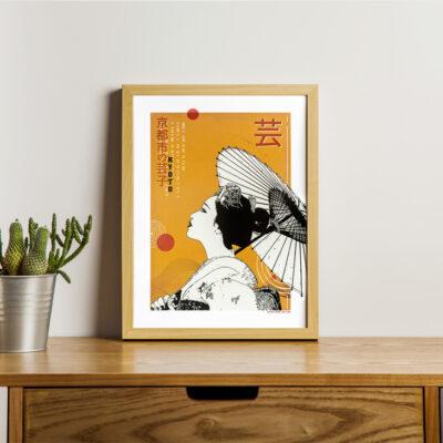 Poster japon couleur Geisha