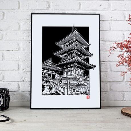 poster-japon-pagode-30×40-1