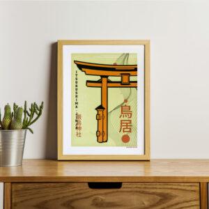 Poster japon couleur Torii