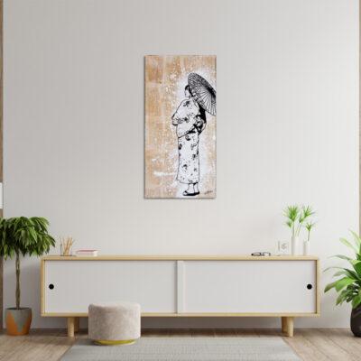tableau japon fond de collage geiko