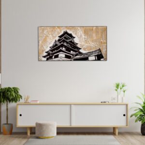 tableau japon fond collage chateau de kumamoto