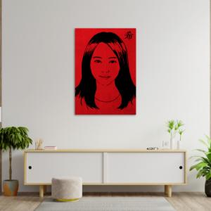 tableau japon portrait maki