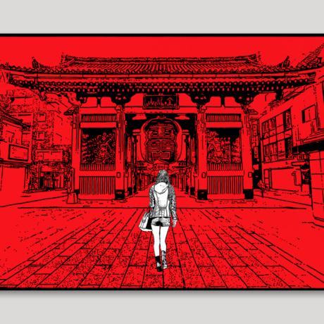 tableau-japon-promenade-a-asakusa-2