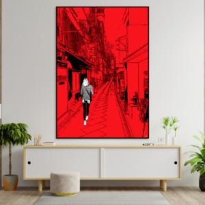 tableau japon promenade a kyoto