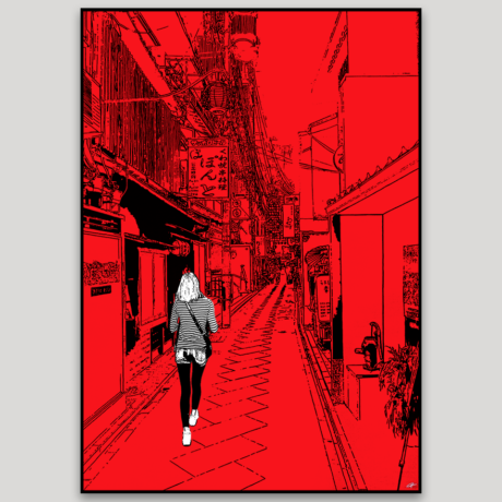 tableau-japon-promenade-a-kyoto-2