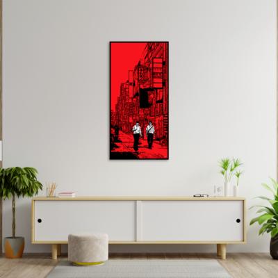 tableau japon deux amis à tokyo