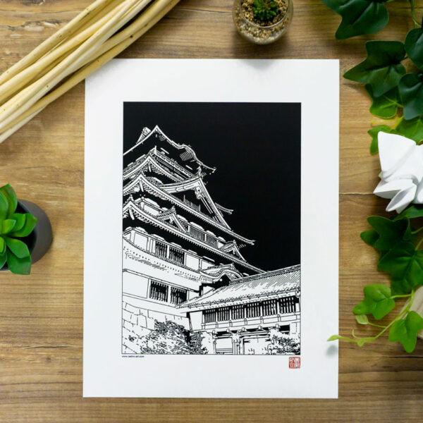 poster chateau japonais