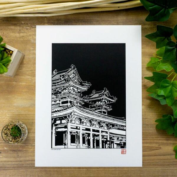 poster sanctuaire japonais